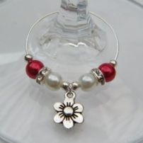 Daisy Wine Glass Charms